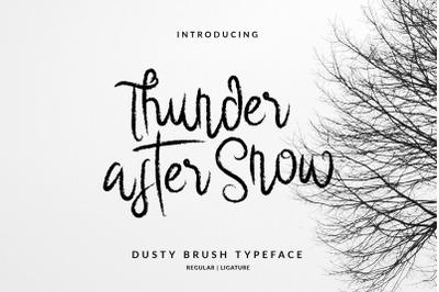 Thunder After Snow Handwritten Brush