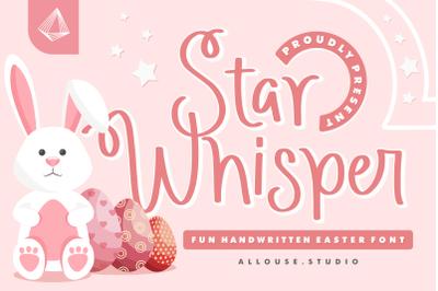 Star Whisper - Easter Font