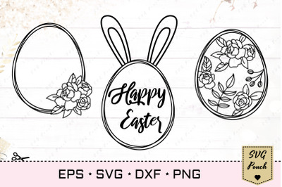 Happy Easter Eggs SVG