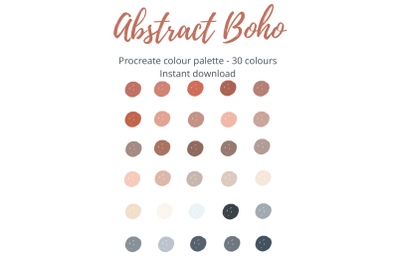 Procreate Abstract Boho Colour Palette/Swatch