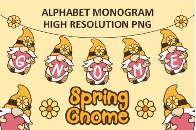 Gnome Spring Monogram PNG