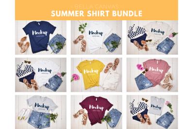 Summer T-Shirts Mockup Bundle