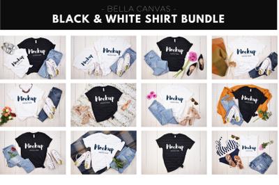 Black and White Shirt Mockup Bundle