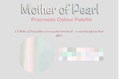 Procreate Mother of Pearl Palette and Gradient Bond Brush