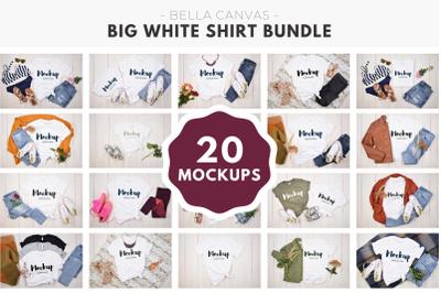 Big White Bella Canvas 3001 Shirt Bundle