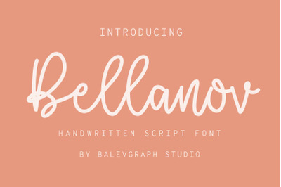 Bellanov Handwritten Script Font