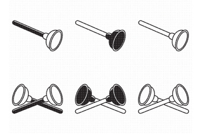 plunger a plumber's tool SVG and PNG clipart