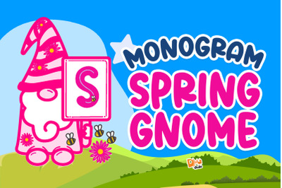 Monogram Spring Gnome