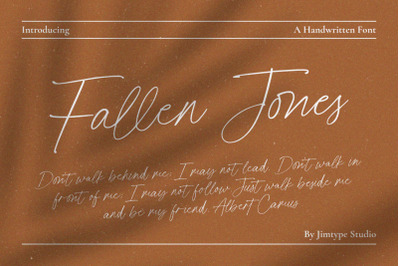 Fallen Jones | a Handwritten Font
