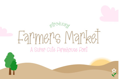 Farmers Market Font (Farmhouse Fonts, Girly Fonts, Country Fonts)