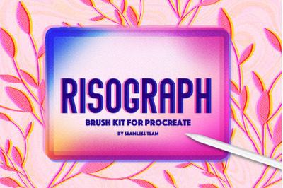 Risograph brush set for Procreate