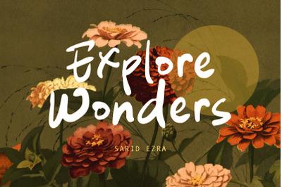 Explore Wonders - Bold Handwritten Font