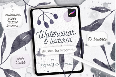 Procreate watercolor and texture brushes