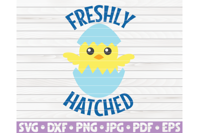Freshly hatched SVG | Easter quote