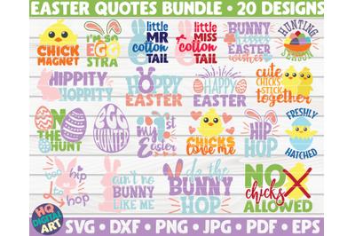 Easter Quotes SVG Bundle | 20 designs