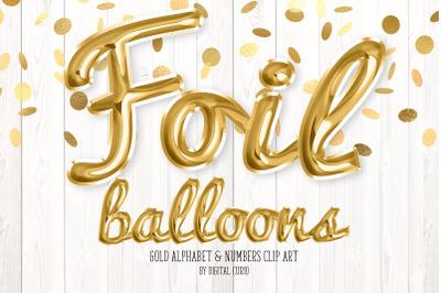 Gold Foil Balloon Script Alphabet