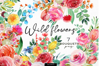 Wild flowers bouquets