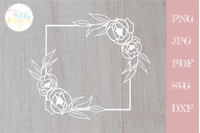 Floral frame svg, Flower svg, Floral bouquet svg