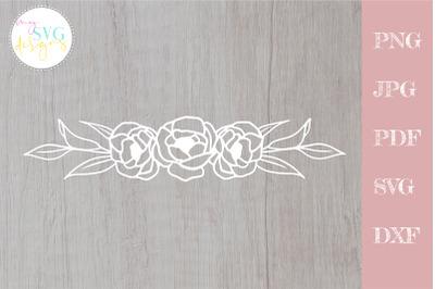Flower border svg, flower svg, floral border svg
