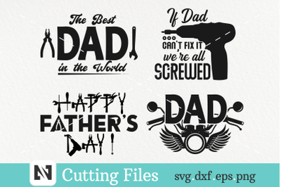 Happy Father's Day Svg, The Best Dad Svg, Dad Svg Bundle
