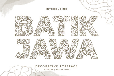 Batik Jawa Decorative Handwritten