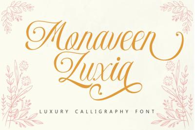 Monaveen Luxia - Luxury Calligraphy Font