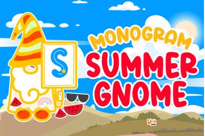 Monogram Summer Gnome