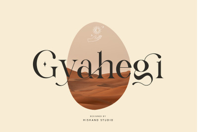 Gyahegi Modern Serif Typeface