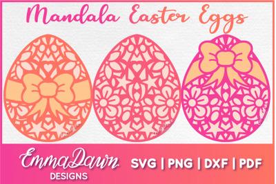 MANDALA EASTER EGGS SVG ZENTANGLE DESIGNS