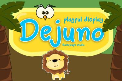Dejuno Playful Display Typeface