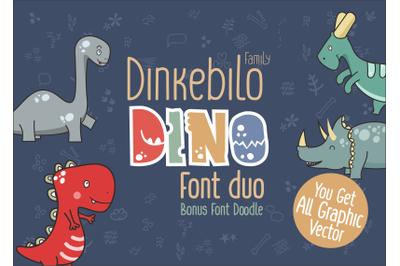 Dinkebilo Dino Font Duo