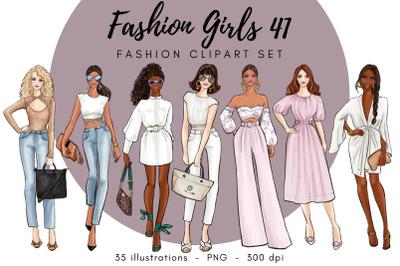 Fashion Girls 41 clipart set