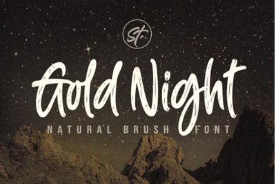 Gold Night - Natural Brush Font