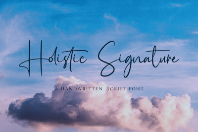Holistic Signature - A Handwritten Signature Font