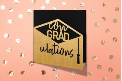 ConGRADulations Layered Papercut Graduation Card   SVG   PNG   DXF   E