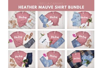 Heather Mauve Shirt Mockup Bundle