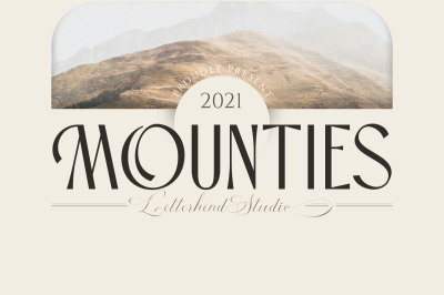MOUNTIES - Display font