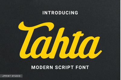 Tahta - Modern Script Font