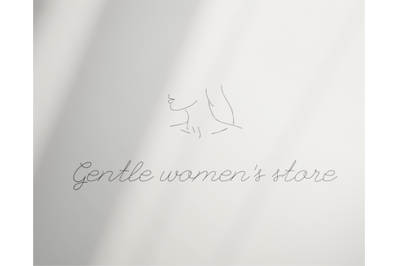 Logo Design, Premade template, Women's Linear, boutique logo, INSTANT