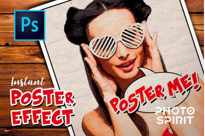 Instant Poster Effect PSD Template