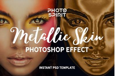 Metallic Skin Photoshop Effect