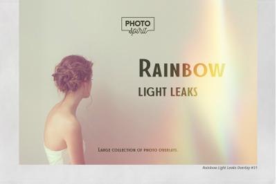 Rainbow Light Leaks Overlays