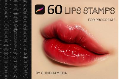 60 Procreate Lips Stamp Brushes