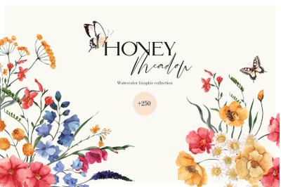 Honey Meadow. Wild Flower graphic.