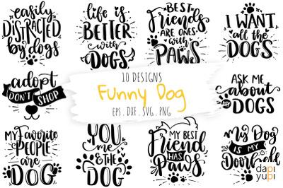 Funny Dog Quotes Bundle, Dog SVG Bundle Graphic, Funny Pet SVG