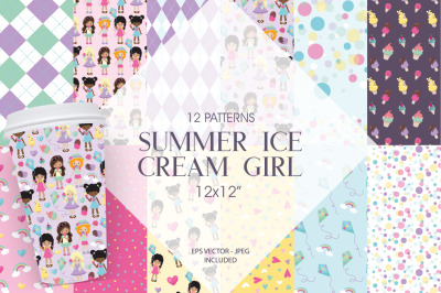 Summer Ice Cream Girl