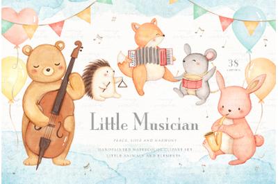 Little Musician Watercolor Clip Arts