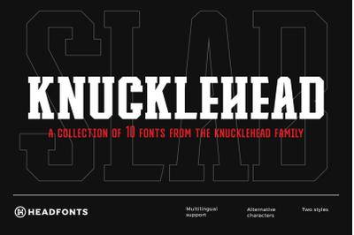 Knucklehead Deco | Sport Font