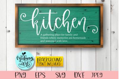 Kitchen definition sign svg, kitchen svg