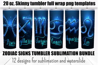 Zodiac signs tumbler sublimation bundle. Full wrap template.